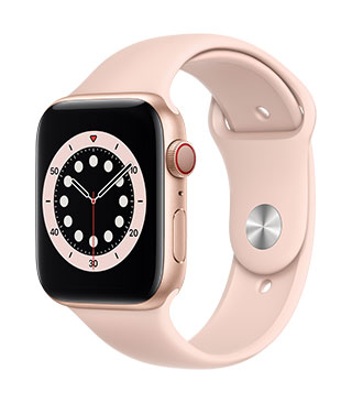 Apple Watch Series 6 (GPS) Gold Aluminium Pink Sand Sports Band